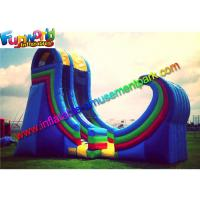 Wholesale Durable Giant Commercial Inflatable Slide Plato 0.55 PVC With Air Blower from china suppliers
