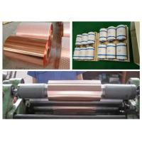 Quality Samsung Mobile Rolled Copper Foil RoHS / ISO Approval 500 - 5000M Length for sale