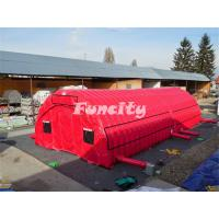 China Outdoor Red Inflatable Tunnel Tent / Marquee Tent With EN14960 Certificate on sale