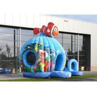 Seaworld Fish Moonwalk Inflatable Bouncer With Slide , 8 People Capacity