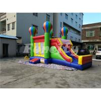 China 0.55mm PVC Tarpaulin Inflatable Jumping Balloon Castle With Slide For Kids on sale