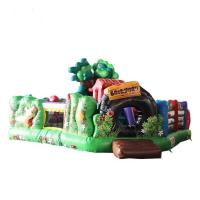 Quality Green Residential Inflatable Bouncer Easy Maintenance High Strength Anti - Crack for sale