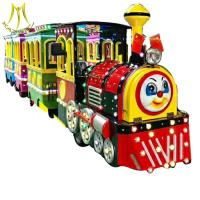 Wholesale Hansel outdoor amusement park items battery power trackless train rides  electric from china suppliers