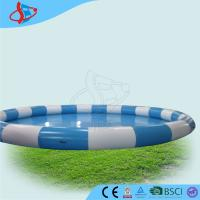 Wholesale Blue White Inflatable Swimming Pools , Water Park Games , Oxted Swimming Pool from china suppliers