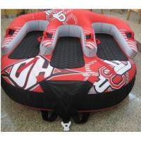 Wholesale Big Inflatable Water Parks for adults / kids , PVC double people water skiing tube from china suppliers