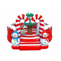 Wholesale Round Christmas Inflatable Play Park Candy House Moon Bounce Playground from china suppliers