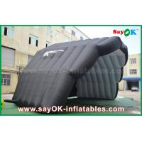Quality 8m PVC Coat Inflatable Air Tent Stage Cover Dome Tent for Show Black Color for sale