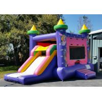 Wholesale Purple Castle Princess 4 In 1 Combo Bounce House Water Slide Combo Popular from china suppliers