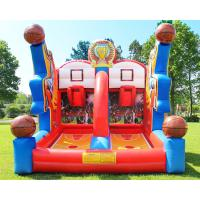 China Shooting Stars Basketball Inflatable Target Bounce House Interactive Sports Structure on sale