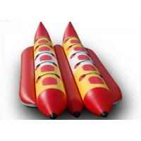 Wholesale Exciting PVC Tarpaulin Double Lane Inflatable Banana Boat Raft With 10 Seats from china suppliers