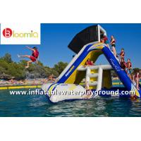 Buy cheap Kids Fun Floating Inflatable Slide With Shelter For Water Sports Games from wholesalers