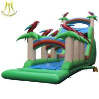 China Hansel popular kids outdoor inflatable bouncy toy castle slide for sale on sale