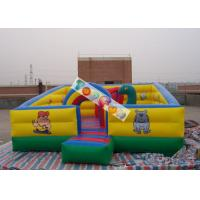 Wholesale Kids Play Games Inflatable Playground / Fun City with 0.45mm - 0.55mm PVC tarpaulin from china suppliers