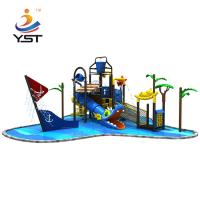 China Giant Water Park Playground Equipment , Plastic Water Slide 560 * 350 * 430 Cm on sale