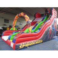 Wholesale Red color Inflatable Slide Rental with full spiderman digital printing from china suppliers