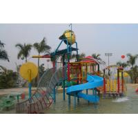 Wholesale Customized Fiberglass Kids' Water Playground Water Amusement Park With Water Slide from china suppliers