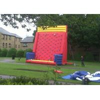 Safety Sports Inflatable Rock Climbing Wall Rentals On The Land With PVC Material