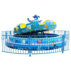 Amusement Park Equipment Ocean Turntable Rides With Marine Animal Decoration