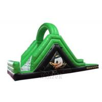 China Green Color Large Inflatable Slide With Pool WSS-247 PVC Material CE Standard on sale