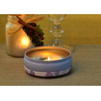 560ml Printed Round Candle Holders Tin Can Wax Container With Lid