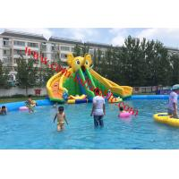 China children large inflatable water pool with slide giant inflatable pool slide for adult on sale