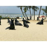Wholesale Seaside Decoration Sea Lion Statue , Handmade Fiberglass Outdoor Statues from china suppliers