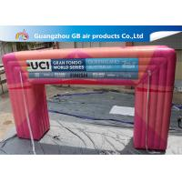 Wholesale Customized Pink Square Inflatable Door Archway Make 0.6mm PVC Tarpaulin Airtight from china suppliers