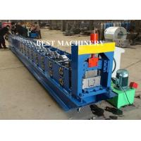 6 Inch Roofing Rain Gutter Roll Forming Machine PLC Control Cutting