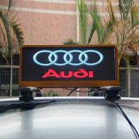Outdoor P5 Waterproof Taxi Roof LED Display , 3G / 4G Car Top LED Display