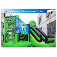 Wholesale Green Ben 10 Theme Bouncy Castle Slide , Inflatable Jumping Castle For Kids from china suppliers