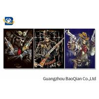Wholesale Flipped Customized 3D Framed Picture Of Animation Cool Skeleton For Indoor Decoration from china suppliers