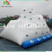 White Heat Sealed Inflatable Water Toys / PVC Logo Printed Iceberg For Amusement