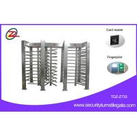 Wholesale Security Auto Full Height Turnstile Gate Electronic 120 Degree Turning 3 Lane from china suppliers