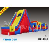 Wholesale 0.55mm PVC Tarpaulin Inflatable Obstacle Courses with Slide and Climbing Wall YHOB-005 from china suppliers