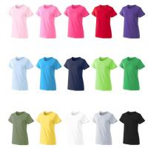 Wholesale Wholesale Cheap Plain Tee Custom Logo 180G Cotton Woman T-shirt in bulk from china suppliers