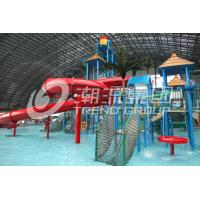 Wholesale Customized Children Water Slides Amusement Park Games With Galvanized Steel Support from china suppliers