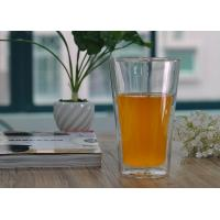 Wholesale Long clear heat resistant Double Wall Borosilicate Glass in Lemon juice drinking from china suppliers