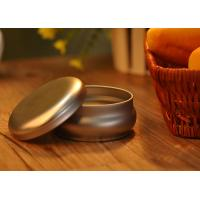 Collectible Container Tin Can Candle Holders Customized With Round Lid