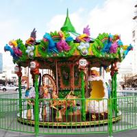 Wholesale Adjustable Speed Animal Kids Carousel Ride With 12 Riders Forest Style CE / ISO from china suppliers