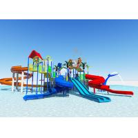 China Commercial Fiberglass Water Slides / Water Park Playground Equipment Easy Installation on sale