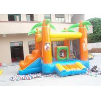 China Kids / Adults Small Inflatable Bouncy Castle With Slide Orange on sale