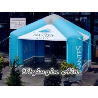 China 8m Blue Printing Vendor Inflatable Advertising Tent for Promotion on sale