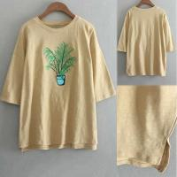 Wholesale China Manufacturer Women Embroidered Crew Neck T Shirt For Girl from china suppliers