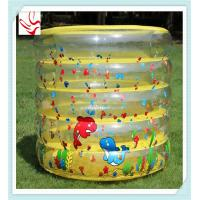China Custom 5 Ring PVC Inflatable Kids Swimming Pools Round With Double Bottom on sale