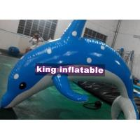 Heat Sealed 3m Inflatable Dolphin Water Toy With CE UL SGS Approved