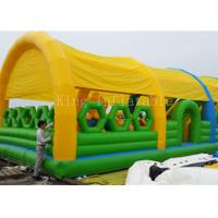 Wholesale 0.55 PVC Tarpaulin Bouncer Castle Outdoor Inflatable Amusement Park from china suppliers