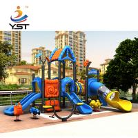 China Anti Aging Play Structure Slide Rubber Coated Or Powder Coating Decks on sale