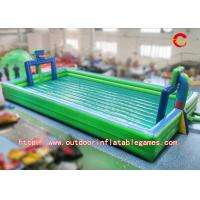 Wholesale Big Exciting Inflatable Football Pitch Hire , Outdoor Inflatable Soccer Fields PVC Material from china suppliers