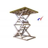 Buy cheap Skidproof Workshops Fixed Scissor Lift 5000 Kg Load With 0.75 - 7.5Kw Motor from wholesalers