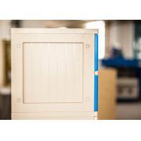 Vandal Resistant 10 Tier Blue School Lockers Keyless ABS Plastic Lockers